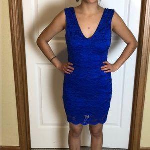 Dresses & Skirts - Lace blue dress